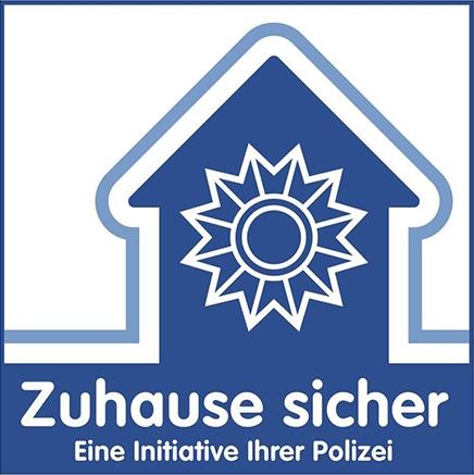 Zuhause Sicher Logo Einbruchsschutz Sicher Wohnen Fenster und Türen